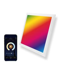 LED Panel 30x30cm 10W RGBW CCT Farbe und Farbtemperatur einstellbar + Fernbedienung