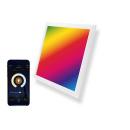 LED Panel 30x30cm 10W RGBW CCT Farbe und Farbtemperatur...