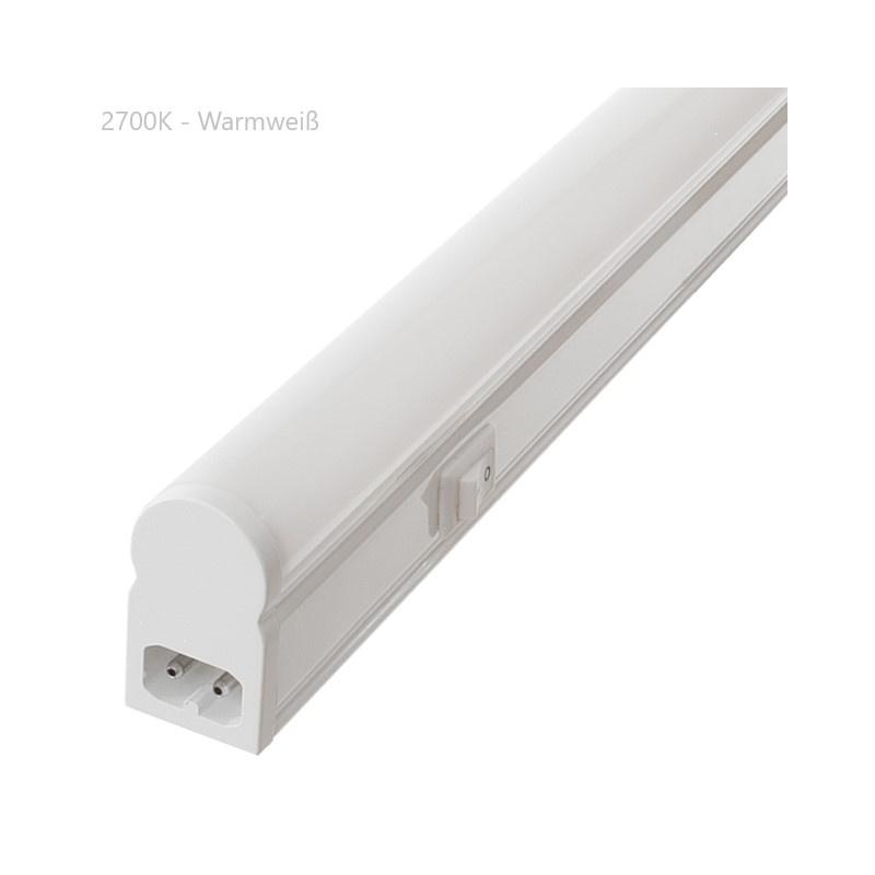 LED Lichtleiste 55cm 9W neutralwei/ß matt inkl Anschlu/ßkabel 1,5m Stecker und Montagematerial K/üchenlampe Unterbaulampe Werkstattlampe K/üchenleuchte Arbeitsplattenbeleuchtung
