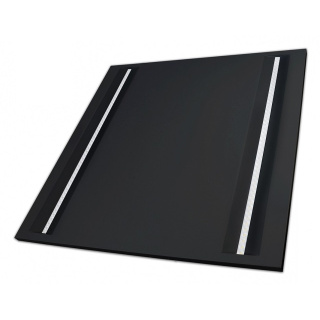 LED Panel 60x60cm ALGINE LINE BLACK OFFICE 44W 4000K neutralweiß Schwarz matt