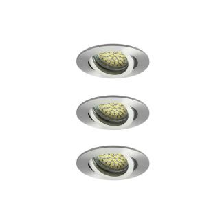 LED Einbaustrahler 7W dimmbar warmweiß Evit Alu gebürstet matt rund 6er Set