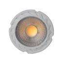 LED Einbaustrahler 7W dimmbar warmweiß Dalla weiß eckig 6er Set