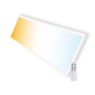 LED Panel CCT 30x120cm 40W Farbtemperatur einstellbar und dimmbar (mit Fernbedienung)